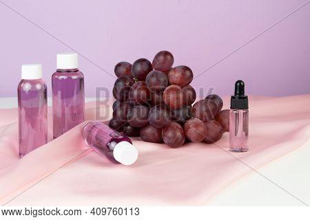 Organic Bio Grape Cosmetics. Extract, Grape Seed Oils, Serum. Grapes Are A Powerful Antioxidant. Abs
