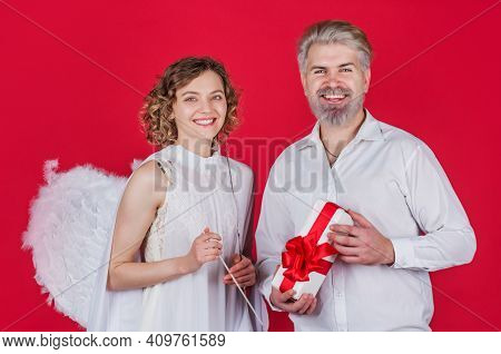 Love. Valentines Day Couple. Cupid Angel Woman. Couple Of Cupids. Valentine Day. Relationships.