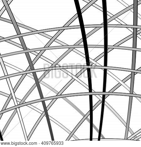 Abstract Background With Metal Strips. Vector Illustration