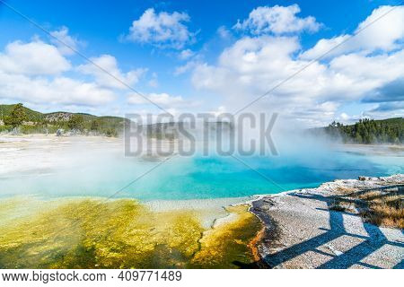 These Sapphire Thermal Pools Are A Sight To Behold Steaming On A Cool Clear Autumn Day