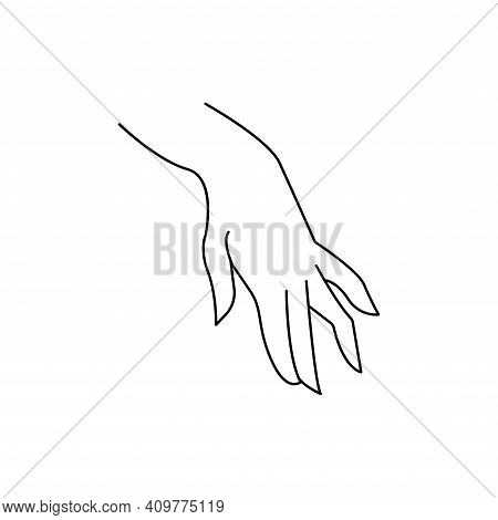 Grabbing Hand. Man S Hand Pinching Invisible Item. Hand Holding Something With Two Fingers. Vector F