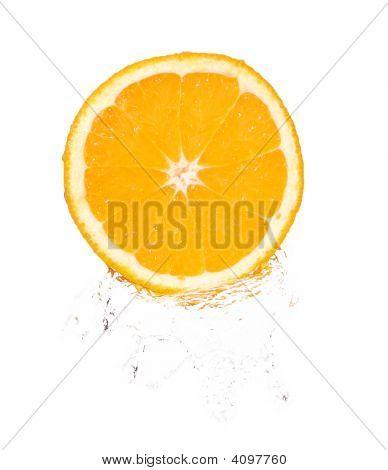 Orange Slice In Splash