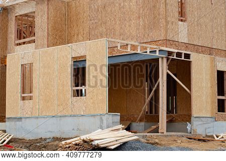 Construction Of A Plywood Garage Wood Site New Window