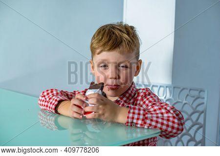 Dream Interpretation Little Boy Eats Chocolate Bar
