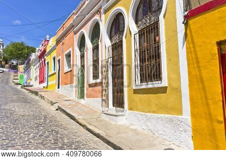 Olinda, Old City Street View, Brazil, South America