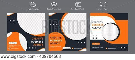 Digital Marketing Agency Social Media Banner Template Design. Cooperate Business Background Banner T