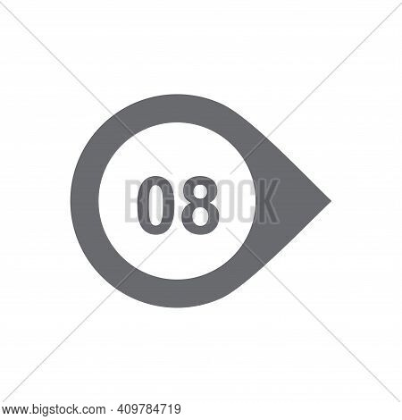 Number Eight 8 Logo Icon Design Template Elements.