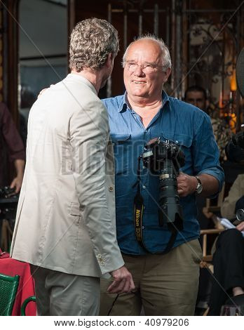 Actor Eric Dane and photographer Peter Lindbergh