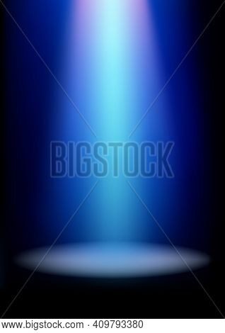 Illumination Effects Of Blue Spotlight, Vector Illustration With Gradient Mesh