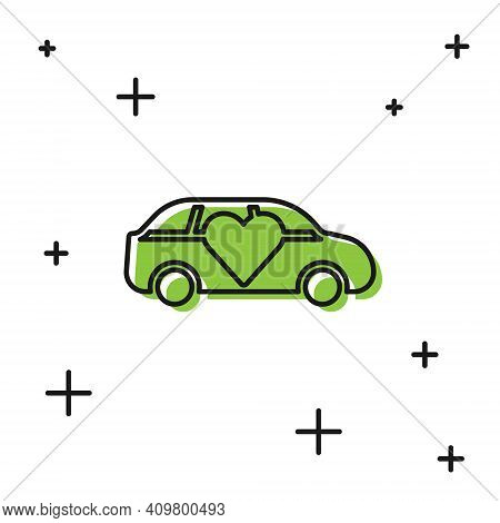 Black Luxury Limousine Car Icon Isolated On White Background. For World Premiere Celebrities And Gue