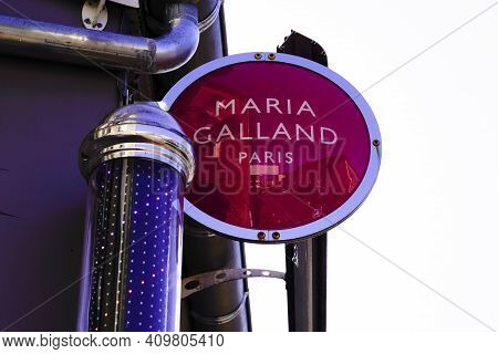 Bordeaux , Aquitaine France - 02 20 2021 : Maria Galland Beauty Institut  Text Logo On Shop French S