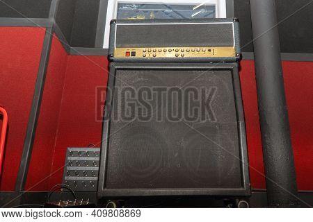 Guitar Amplifier With Speaker Cabinet. Guitar Stack. Soft Focus