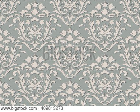 Damask Seamless Pattern Element. Vector Classical Luxury Old Fashioned Damask Ornament, Royal Victor