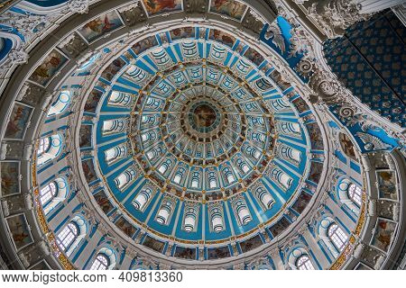 Russia, Istra, February 2021. Dome Of The Resurrection Cathedral Of The Voskresensky New-jerusalem S