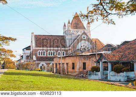 Beautiful Scenic View Of Old Building Trio, All Saint's Church, Galle Library And Fort Post Office I