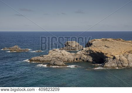 Views Of Cape Palos, Cabo De Palos In Spanish. It Is Located In The Municipality Of Cartagena, Regio