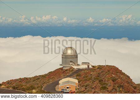 La Palma, Spain - November 1, 2016: Nordic Optical Telescope At The Roque De Los Muchachos Observato