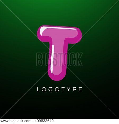 3d Playful Letter T, Kids And Joy Style Symbol For School, Preschool, Comic Book, Kids Zone Decorati