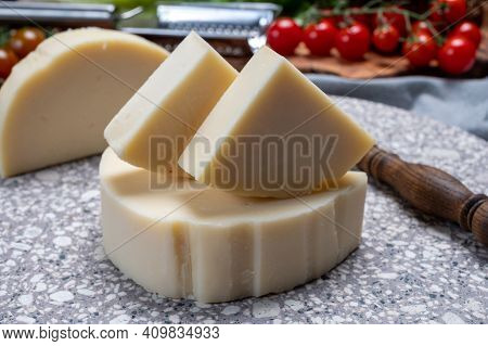 Cheese Collection, Italian Pasta Filata Aged Cheese Provolone From Cremona, Northwest Of Italy