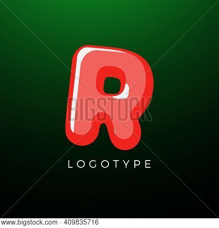 3d Playful Letter R, Kids And Joy Style Symbol For School, Preschool, Comic Book, Kids Zone Decorati