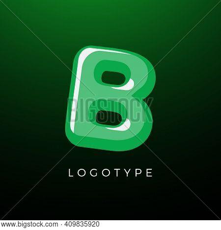 3d Playful Letter B, Kids And Joy Style Symbol For School, Preschool, Comic Book, Kids Zone Decorati