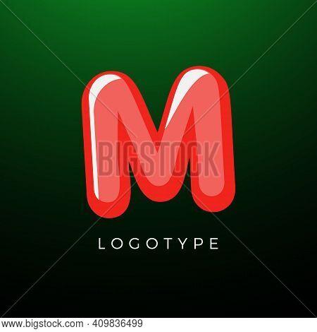 3d Playful Letter M, Kids And Joy Style Symbol For School, Preschool, Comic Book, Kids Zone Decorati