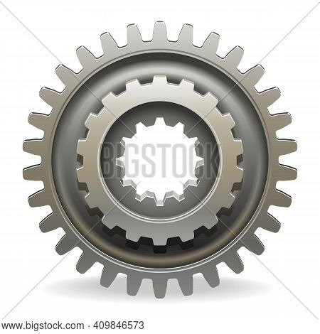 Vector Car Gearwheel Isolated On White Background