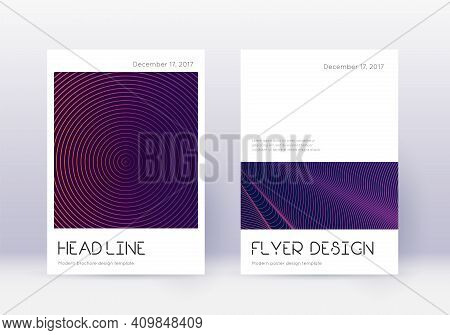 Minimal Cover Design Template Set. Violet Abstract