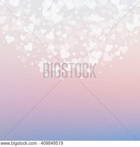 White Heart Love Confettis. Valentine's Day Semici