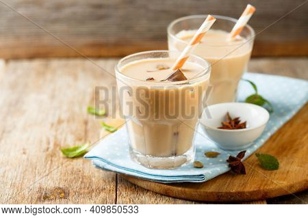Coffee Concept. Coffee In Cup On The Table, Hot And Fresh Morning Coffee. Brown Roasted Coffee. Copy