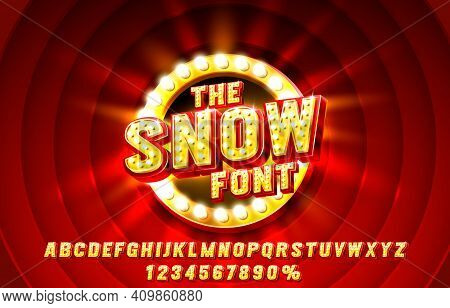Show Font Set Collection, Letters And Numbers Symbol. Vector