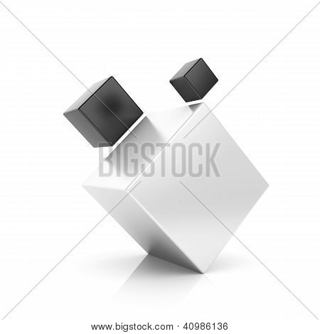 Abstract Black Business Symbol With 3 Cubes