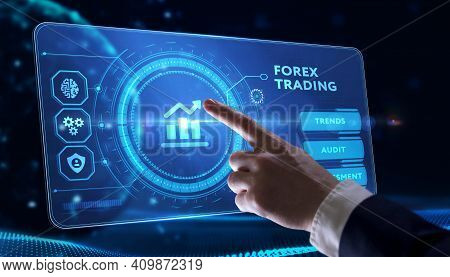 Forex Trading, New Business Concept.  Business, Technology, Internet And Network Concept.