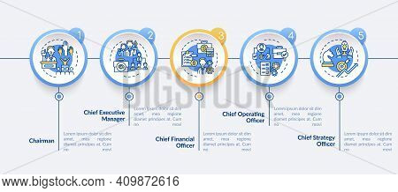 Top Management Positions Vector Infographic Template. Chief Executive Manager Presentation Design El