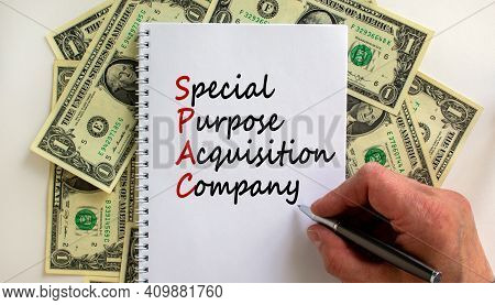 Spac, Special Purpose Acquisition Company Symbol. Word Spac On Beautiful White Background, Copy Spac
