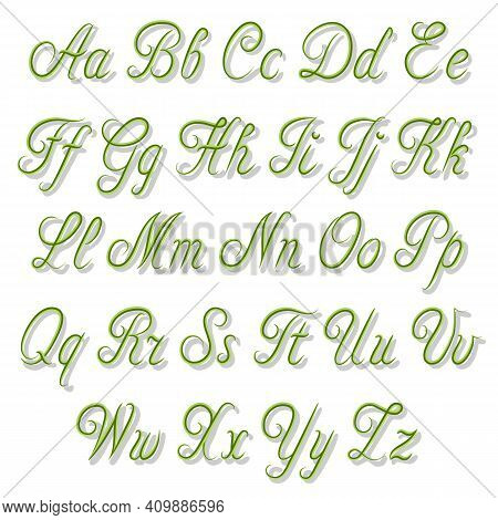 English Alphabet In Vector Illustration.colored Illustration With A Set Of Letters Of The English Al