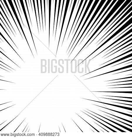 Sun Energy Texture Striped, Pop Art Retro Backdrop, Chaotic Stripe Round Monochrome, Sunbeam Illustr
