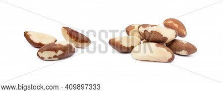 Para Nuts Isolated On A White Background