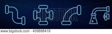 Set Line Industry Metallic Pipe, Industry Metallic Pipe, Industry Metallic Pipe And Water Tap. Glowi