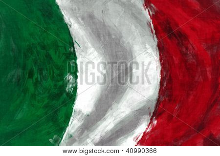 Flag Of Italy Abstract Digital Painting Background