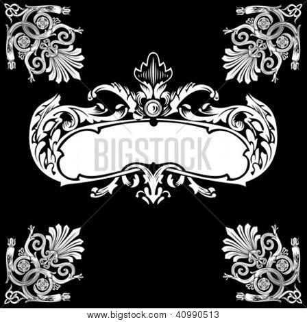 Decorative Royal Vintage Ornate Banner.