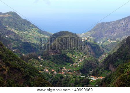View over the north coast of the Madeira island, Portugal