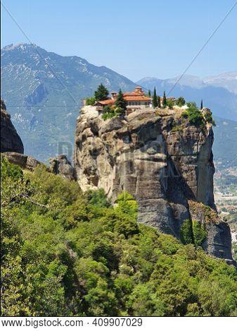 Stunning Monastery Of Meteora View, Kalambaka, Greece