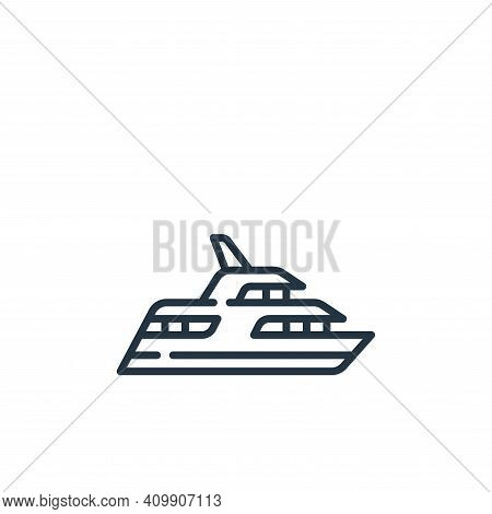 yacht icon isolated on white background from fame collection. yacht icon thin line outline linear ya