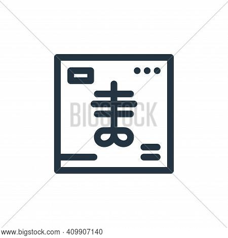 x ray icon isolated on white background from medical tools collection. x ray icon thin line outline