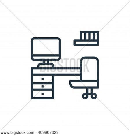 work space icon isolated on white background from work from home collection. work space icon thin li