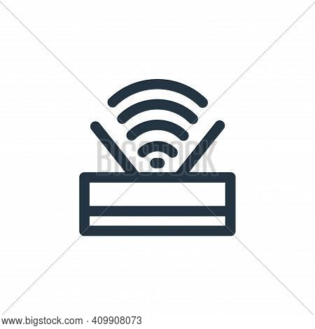 wifi signal icon isolated on white background from computer hardware collection. wifi signal icon th