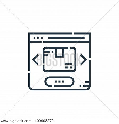 website icon isolated on white background from delivery collection. website icon thin line outline l