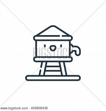 water tank icon isolated on white background from desert collection. water tank icon thin line outli