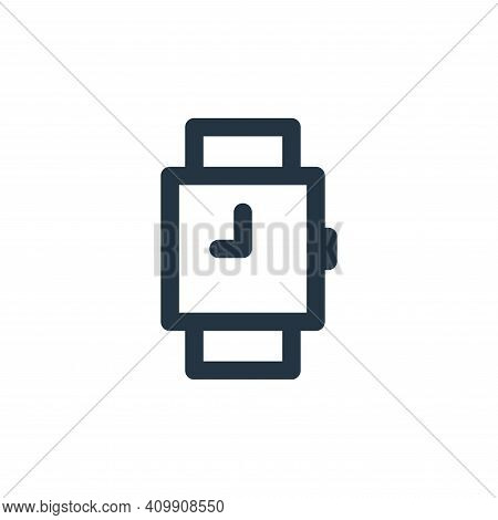 watches icon isolated on white background from marketing business collection. watches icon thin line